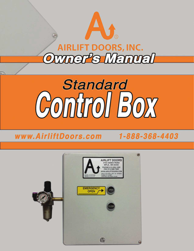 Standard Control Box Owners Manual