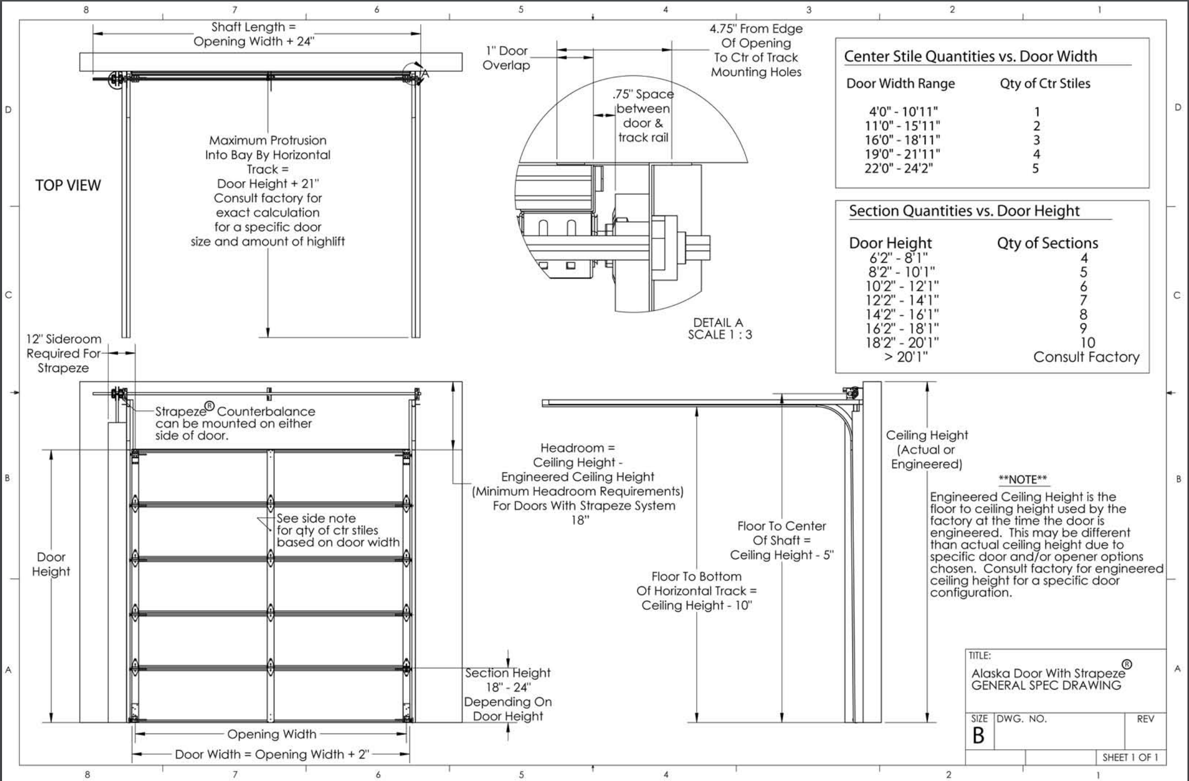 Alaska Strapeze General Shop Drawing